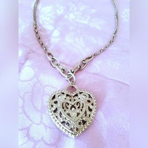 Jewelry - Heart Charm Statement Necklace